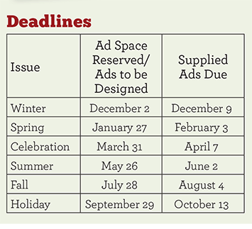 Advertising deadlines