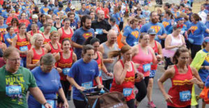 A crowd running a 5K.